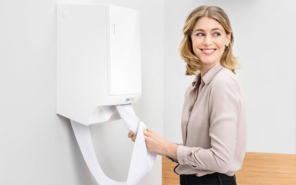 distributeur pour essuie-mains